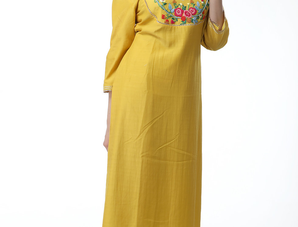 SUN KISSED YELLOW STRAIGHT KURTA