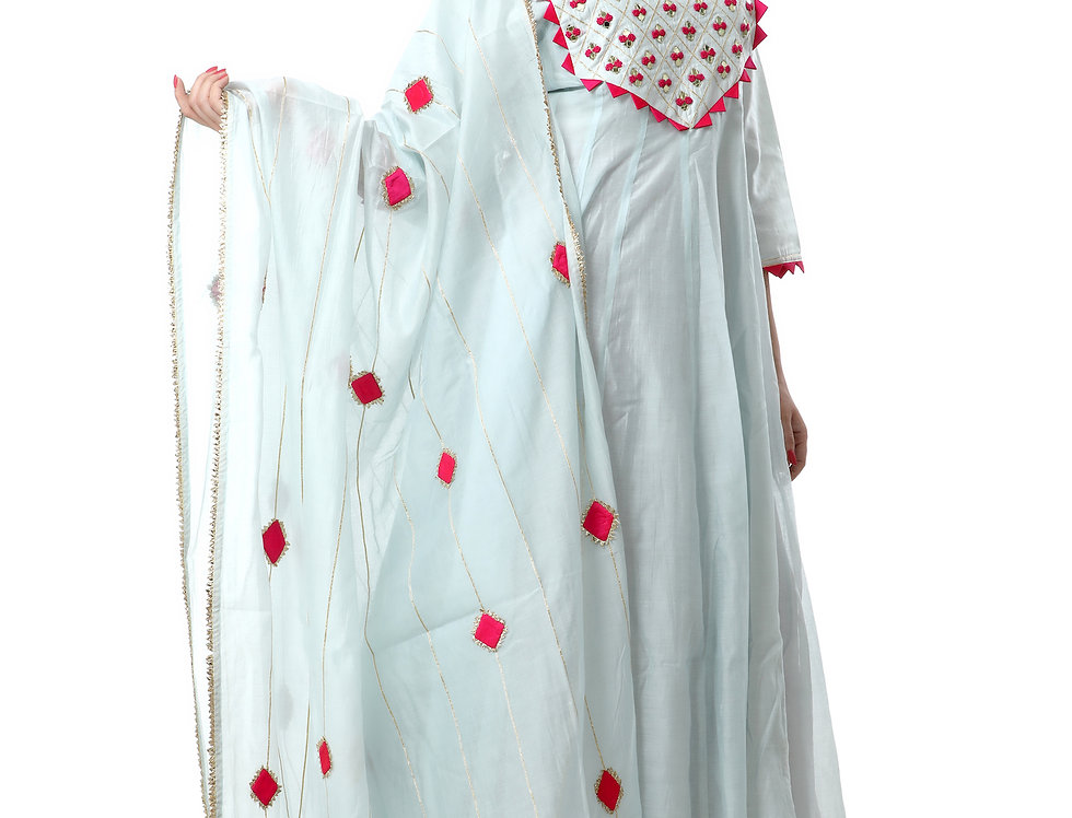 POWDER BLUE DUPATTA