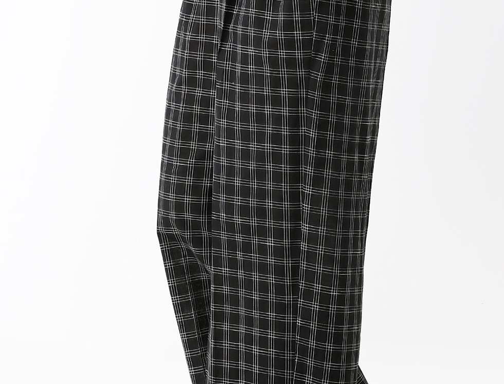 BLACK CHEQUERED BOX PANTS