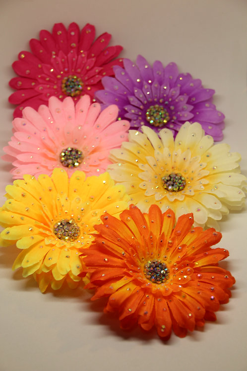Rhinestoned Gerbera - Multiple Colours