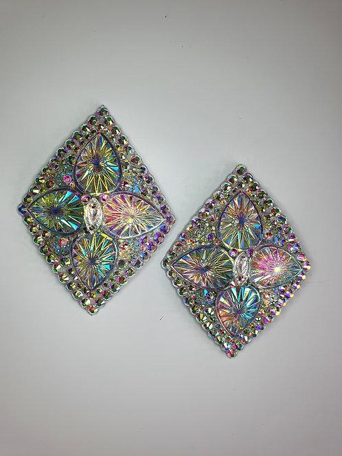 Crystal AB Diamond Shape Pasties