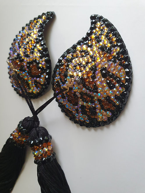 Feather Shape Leopard Print Pasties