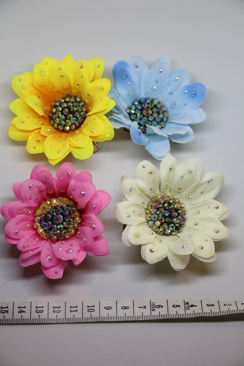 Rhinestoned Daisy - Multiple Colours