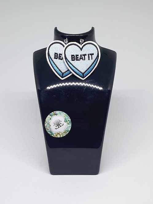 Beat It - Oversized Applique Earrings