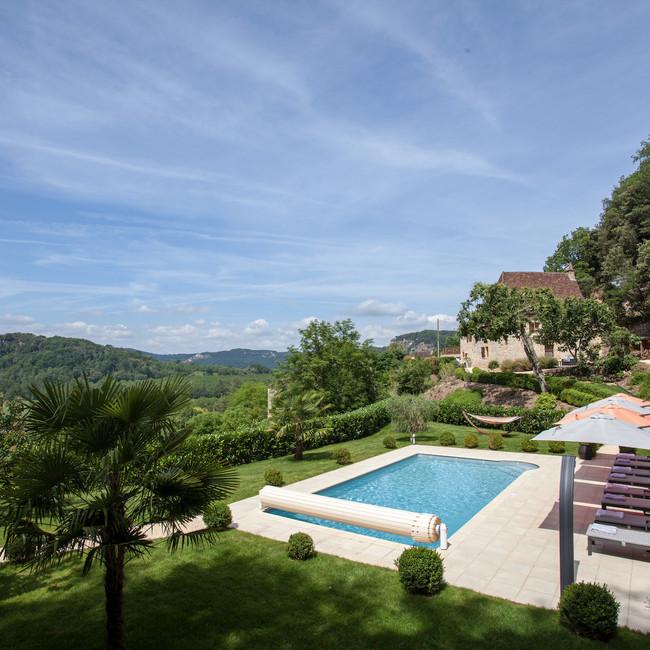 Vue vallee de la Dordogne les hauts de gageac
