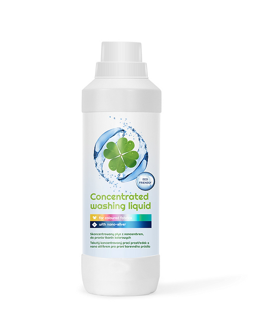 Concentrated washing liquid with nanosilver