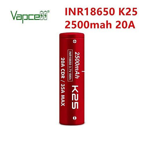 Vapcell K25 2500mAh 20A Battery
