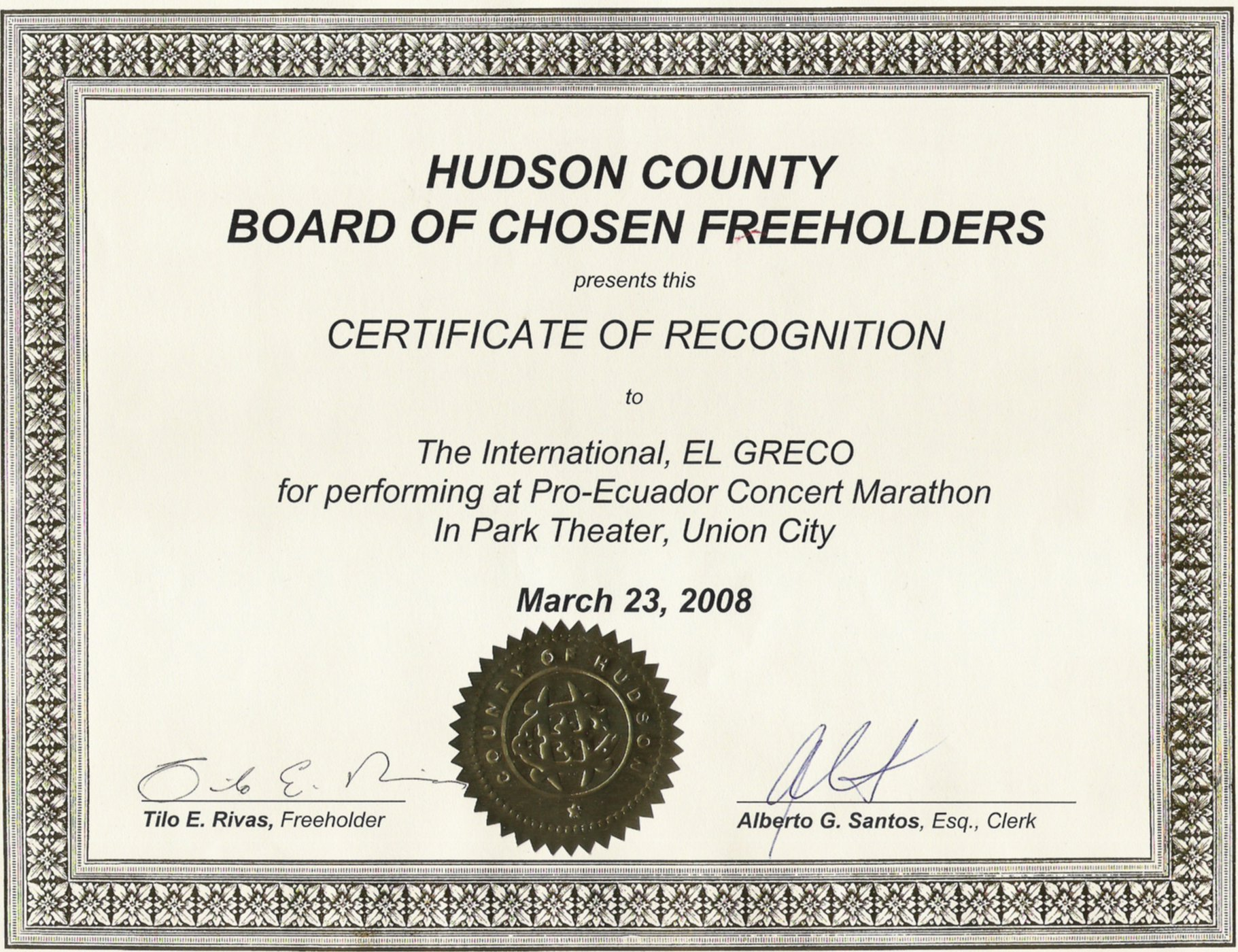 greco concert and marathon in union city