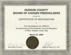 greco concert and marathon in union city