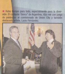 greco award at union city new york usa