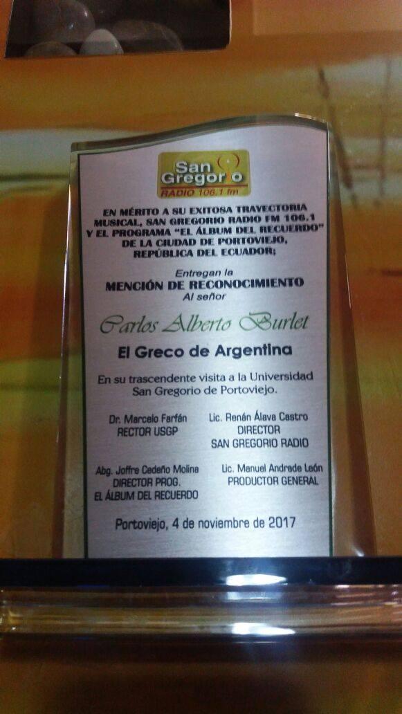 el greco san gregorio award