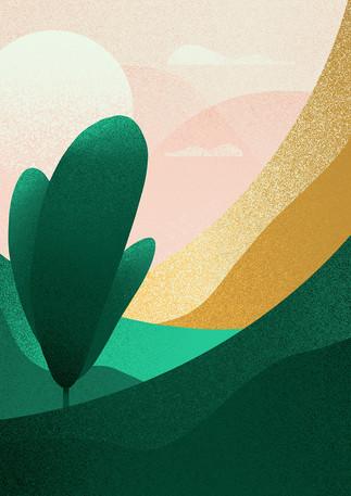 Lone Tree | Digital Art