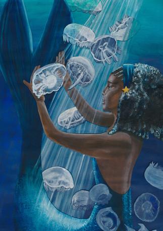 St. Lucia-Tropical Lagoon | Gouache & Collage
