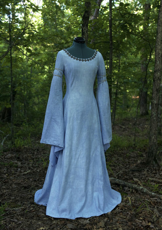 Dress | Hand-dyed linen, brass, cord