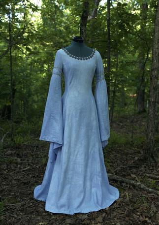 Dress | Hand-dyed linen, brass, cord