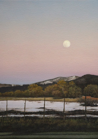 Moonrise over Taos | Oil