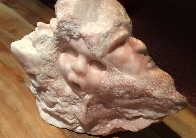 Multiple Stone Faces | Alabaster Stone