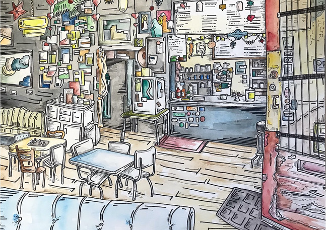 Coffee Shop | Mixed Media