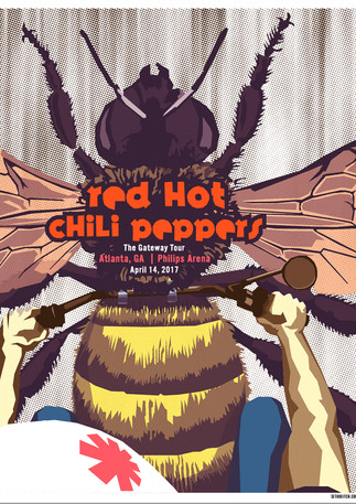 Red Hot Chili Peppers Concert Poster | Screen Printing