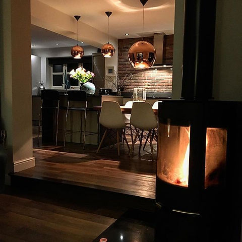 Open plan kitchen and snug created in ou