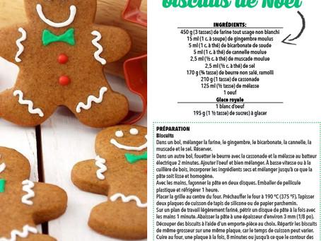 Recette exotique de biscuit du Temps des Fêtes