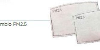 PR3 kit filtri ricambio PM 2.5