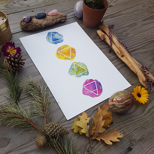 Alchemy Nature Elements Print