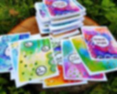 Positivive affirmation cards.