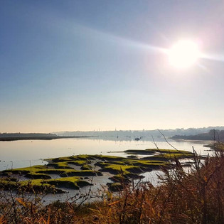 The mud flats along the river Stour
