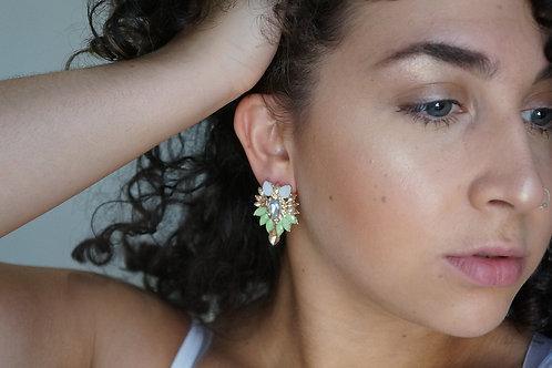 Water Design Crystal Drop Earrings