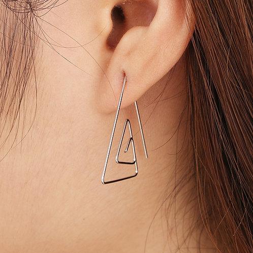 Modern Triangle Earrings