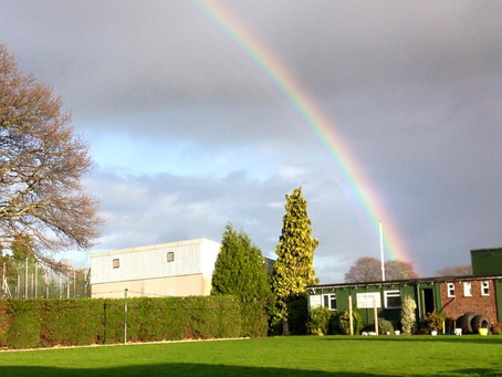 Beautiful rainbow over the club
