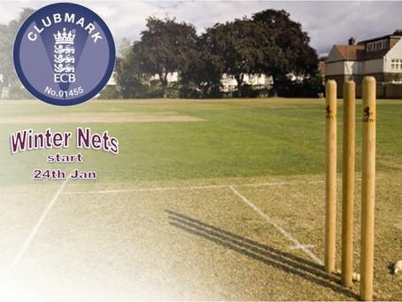 Cricket Winter Nets starts