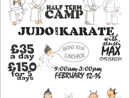 Judo and Karate Half Term Camp