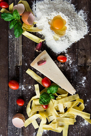 pasta-tomatoes-and-flour-with-egg-shells