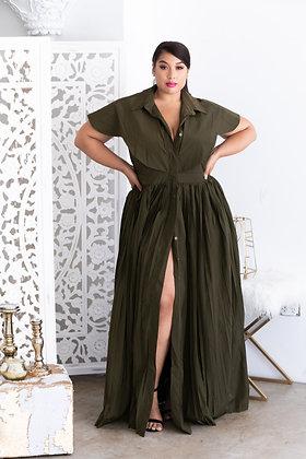 Short Sleeve Maxi Dress with Pockets
