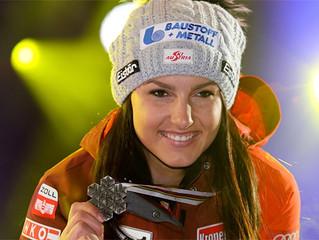 Stephanie Venier Vizeweltmeisterin in der Abfahrt 2017