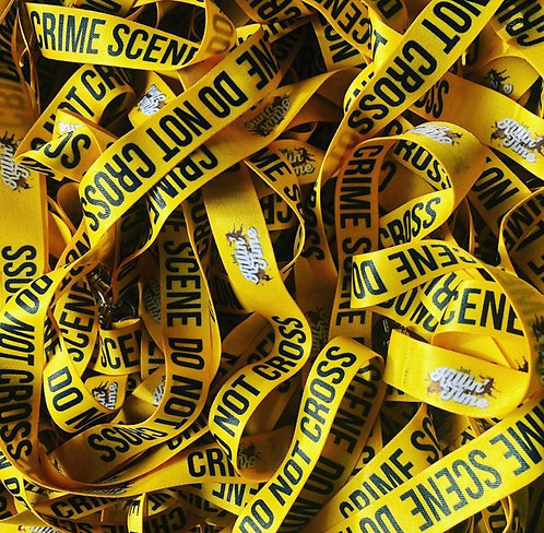 Crime Scene Tape Lanyard