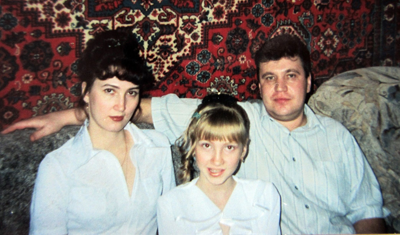 Olga with her family