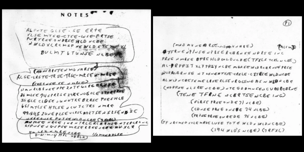 The note found on the body of Rick McCormick