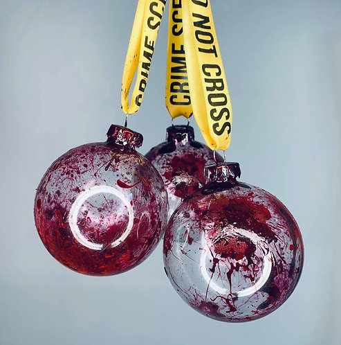 Blood Spatter Glass Bauble