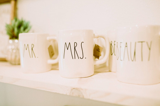 Rae Dunn Mugs - Mr. & Mrs.