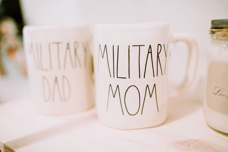 Rae Dunn Mugs - Military Mom & Dad