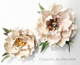 Beautiful Clay Cake Toppers by Gina Holt