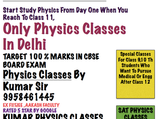 Physics Tutor In Kalkaji/Gk 2/C r Park-Kumar Sir-9958461445