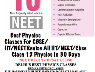 Physics Tutor In Gk 2 New Delhi WIth Neet Hots Topic
