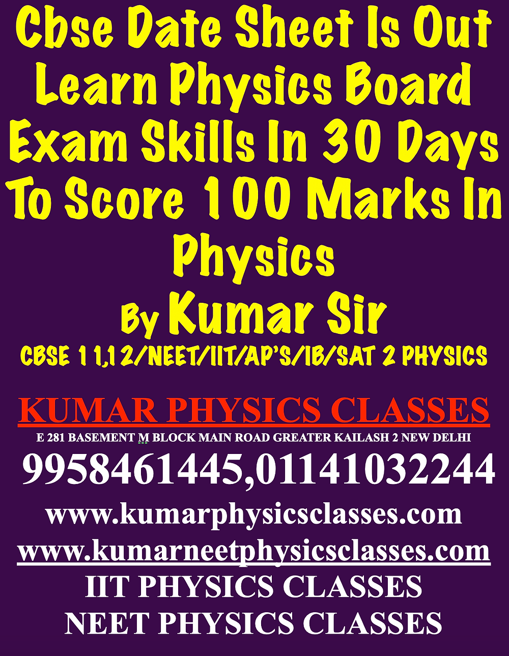 Best Physics Tutor For Cbse Physics