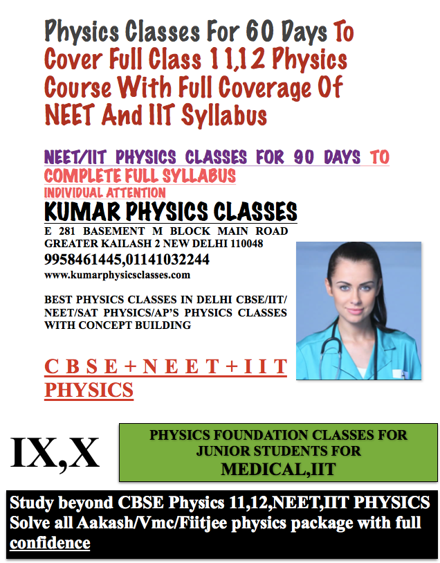 Physics Classes For 60 Days To Cover Full Class 11,12 Physics Course With Full Coverage Of NEET And IIT Syllabus