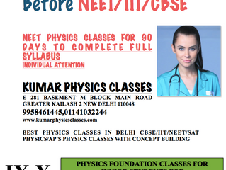 Do At least 200 Physics Mcq's A Day Before NEET/IIT/CBSE PHYSICS CLASSES IN SOUTH DELHI