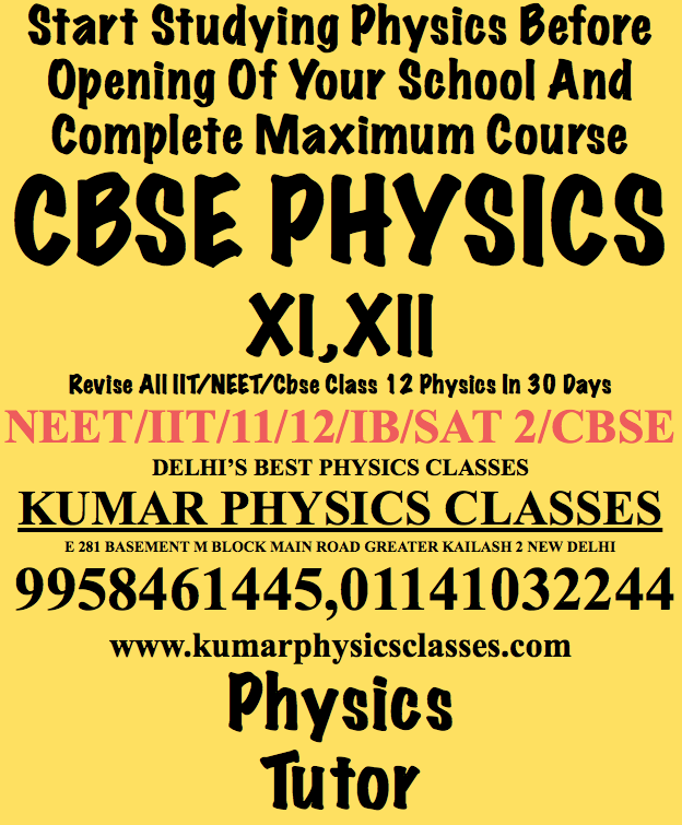 Tips Before Appearing For Neet Exam -Physics Classes In Gk 2/Gk 1/South Ex/Kotala/Jor Bagh/Golf Link/Sunder Nagar//Sant Nagar/Lajpat Nagar/Vasant Kunj/South Delhi-By Kumar Sir -9958461445 Kumar Physics Classes-9958461445 NEET Physics entrance exam like other competitive exams is a time-bound exam. This, however, does not mean that students should start solving the question paper quickly without going through it correctly. Keeping time management in mind, students should begin addressing the problems with moderate speed; once they get the rhythm, they can increase their rate accordingly. In other words, they need to move out of inertia and start rolling. Once you are going, you will be able to solve even tricky problems with the acquired momentum. It is ALWAYS better to attempt questions from your Physics First because time is fresh at the time of starting which will undoubtedly help you in rolling forward. Mark the items (on your question paper) which seem comfortable at prima-facie and attempt these questions first.  www.kumarphysicsclasses.com Do not waste your time: There is no need to hang on an ONE question for more than 5 minutes as this would further spend your time and thus move on to next . After all, it is an observation, and your aim should be to score high by dividing your time judiciously and intelligently. Choose the Questions to Attempt: I would suggest you try as many conceptual problems as you can since these are relatively scoring. For comprehension related questions, read them carefully because these can be answered quickly and correctly. According to the pattern of the problems, you may opt for your favourite section/portion of the paper as per your convenience. Try to cross-check the answers by putting values in the equation(s) given. Create a Revision Plan: During preparation, you must have a revision plan which should be interlinked topic wise and concept-wise. Also, you can reinforce your memory by revision at regular intervals. While doing the rough work for solving questions, you must do it as neatly as possible, as this helps in revising the attempted questions. It might sound trivial, but it helps; in fact, these little things if taken into account can add much to your score. It is entirely possible that you may finish your favourite subject much before, thereby devoting that surplus time on other areas which usually take more time. This will help multiply your score at the end. You must plan your time in such a manner that at the end you are left with 15–20 minutes which you can use for revision and cross-checking. Advance Planning: As per general perception, Physics seems difficult and Smart, but you can make it easy by resorting to a specific strategy.  www.kumarphysicsclasses.com Before the Exam Day, revise all physics topics with formulae-wise because by doing so you will get a recap of the entire practical concepts involved in solutions which will save your time too. Any Problem In Physics Contact Kumar Sir 9958461445 Similarly, Chemistry can be the most scoring subject if you prepare and solve the questions intelligently. To finish the paper in time, attempt the theoretical questions first and then move on to the integral portion and organic reactions. This will help you maximise your score. Biology is fascinating subject as compared to Physics and Chemistry. Students need to practice as much as possible and try to concentrate fully on a study to be successful in the exam. Moreover, they should devise a strategy and research respectively. Positive Attitude: Success in NEET largely depends upon your hard effort, perseverance, courage and conceptual clarity. If you want to be a winner in this exam, don't lose your patience and be sure as this exam is similar to other several reviews you have developed so far. Keep yourself focused and look in the exam with positive attitude speculating that you are going to hit the jackpot. The psychological action starts before the real game comes in. Every action is first won in mind. If your account thinks you can, you are certainly going to crack the NEET 2017. We wish you success and a bright future ahead! If You Are Facing Any Problem Contact Kumar Sir www.kumarphysicsclasses.com 9958461445 Physics TutorPhysics ClassesNeet Physics ClassesIit Physics ClassesCbse Physics Classes